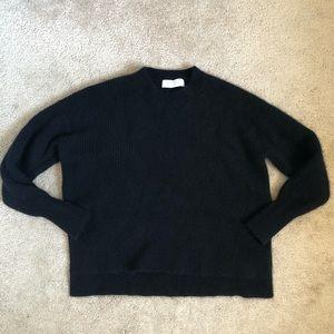 Everlane Cashmere Waffle Textured Crewneck Sweater